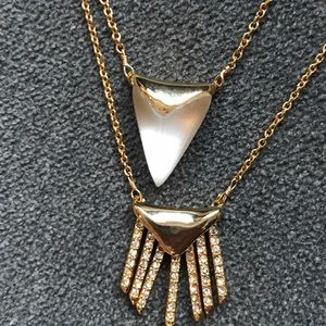 NWT Alexis Bittar layered lucite Necklace